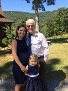With my dad and Abby, who shone in her role as Flower Girl