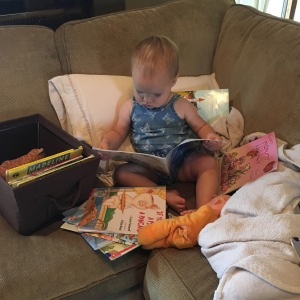 Of course she's reading independently. Does your baby not do that yet?